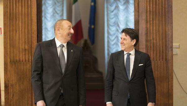 20/02/2020 - Il Presidente del Consiglio, Giuseppe Conte, riceve il Presidente della Repubblica dell'Azerbaigian, Ilham Aliyev. - Sputnik Italia