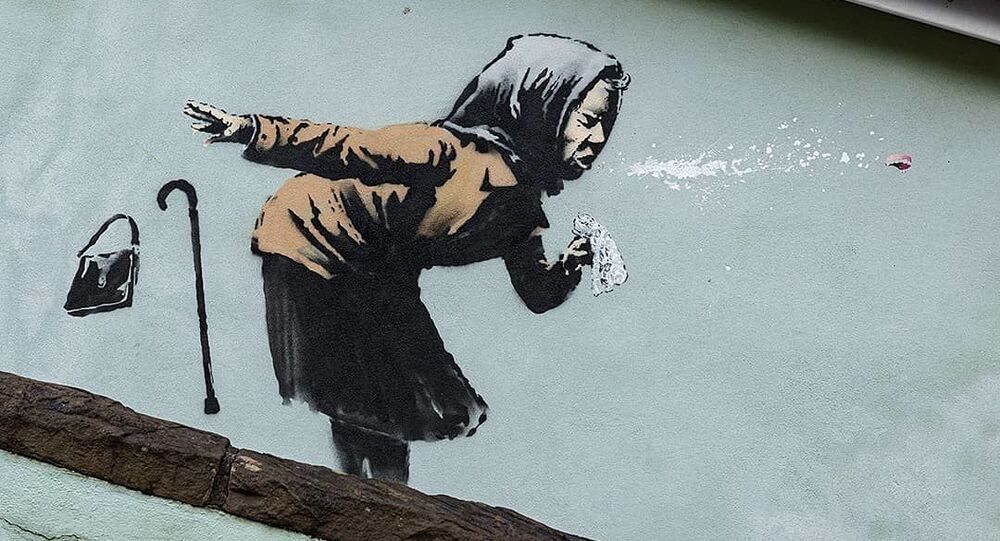 E' dedicata al Covid l'ultima opera di Banksy