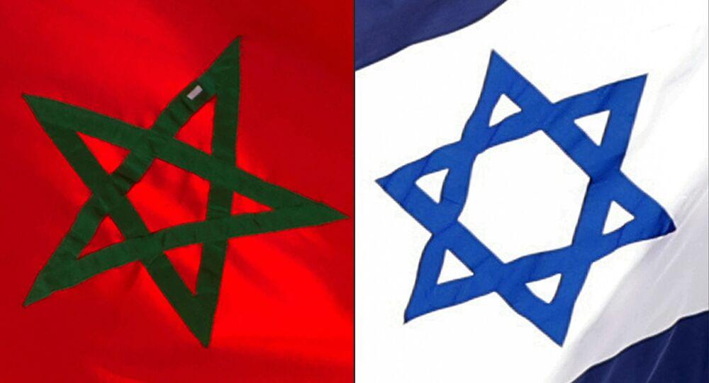 Combinazione bandiere Marocco e Israele
