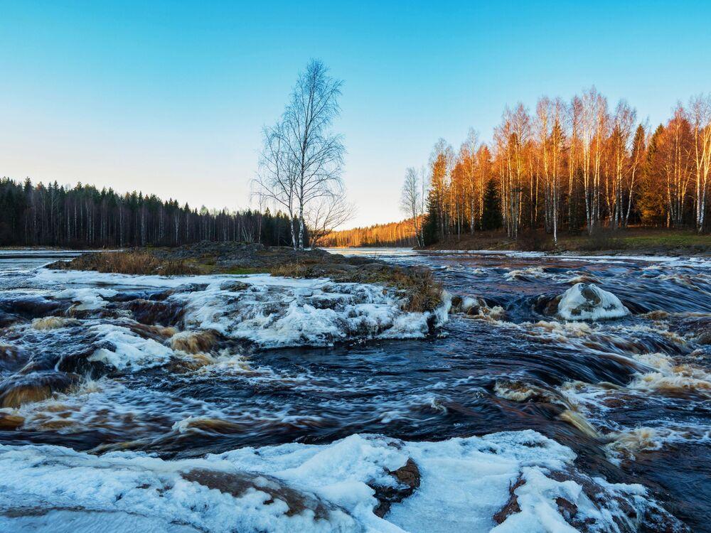 Inverno nella Repubblica di Carelia, Russia