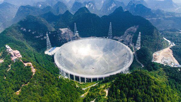 Il radiotelscopio cinese Aperture Spherical Telescope (FAST) nella contea di Pingtang , Cina - Sputnik Italia