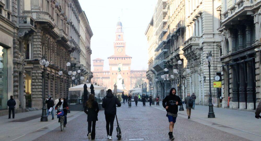 Vista su Castello Sforzesco a Milano