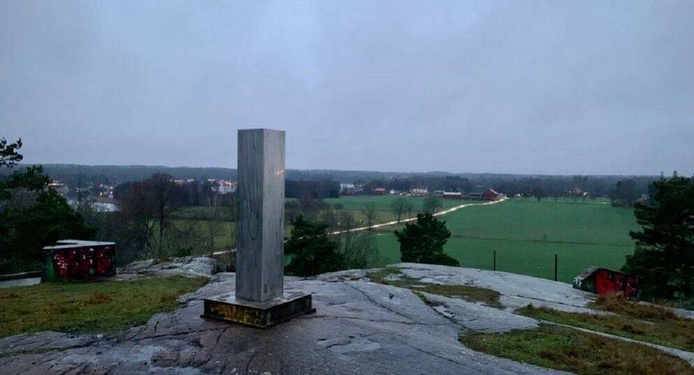 Misterioso monolite in Svezia