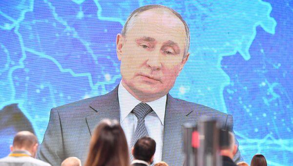 La Conferenza stampa di fine anno di Vladimir Putin 2020 - Sputnik Italia