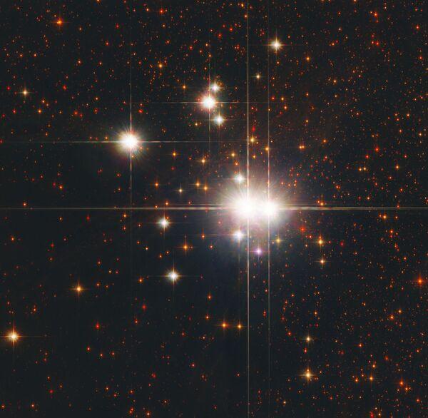 L'ammasso stellare aperto Caldwell 82 (NGC 6193) si trova a 3.700 anni luce nella costellazione Ara. - Sputnik Italia