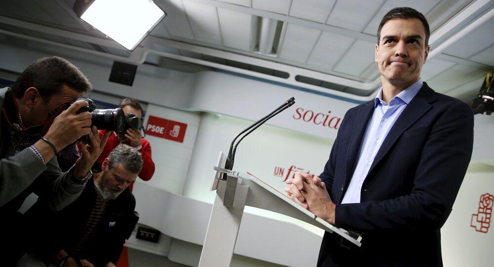 Il presidente del Consiglio spagnolo Pedro Sanchez