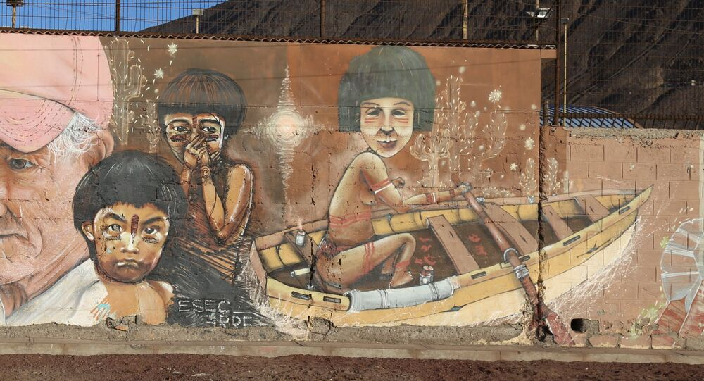 Graffiti di ESEC in Taltal, Antofagasta