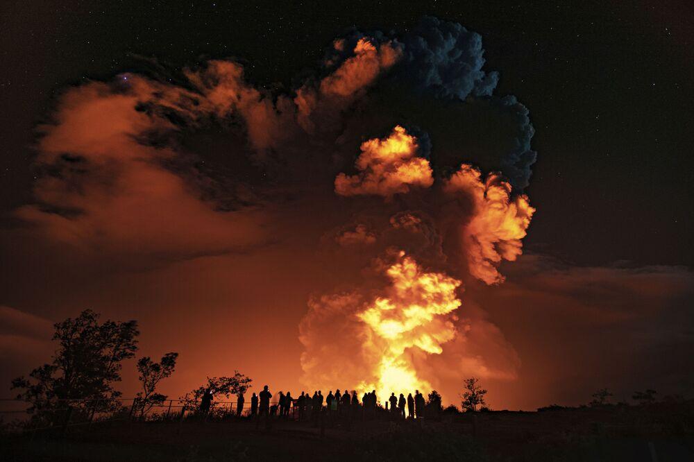 Eruzione del vulcano Kilauea alle Hawaii