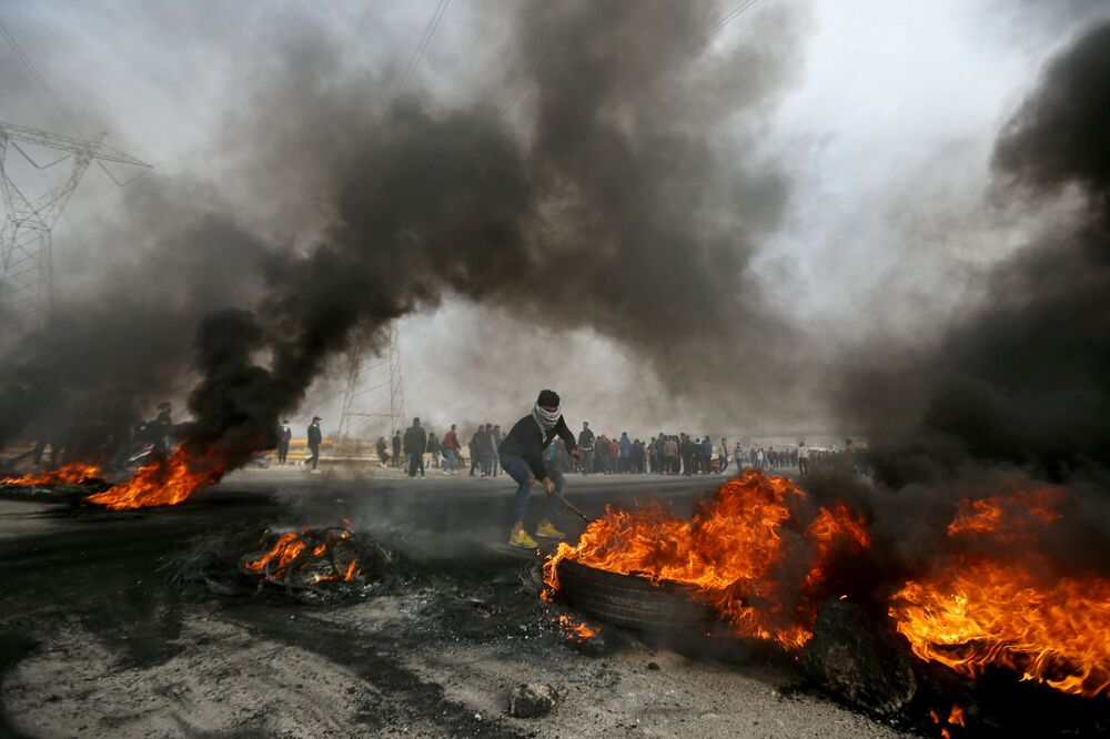 Proteste antigovernative a Bassora, in Iraq