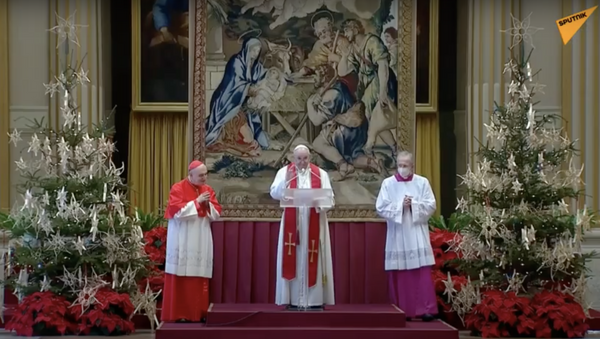 La benedizione di Natale Urbi et Orbi di Papa Francesco - Sputnik Italia