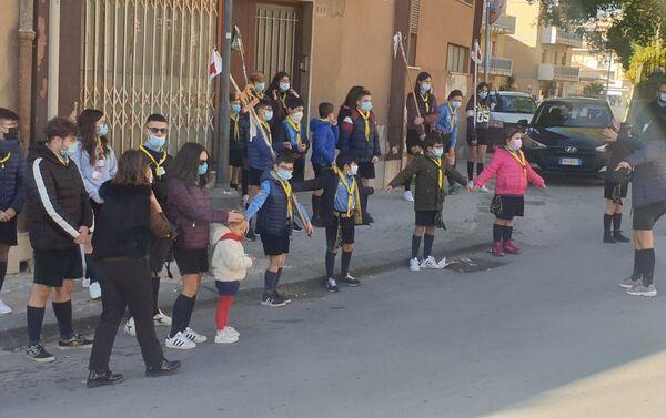 Manifestazione di solidarietà alla famiglia Parentignoti - Sputnik Italia