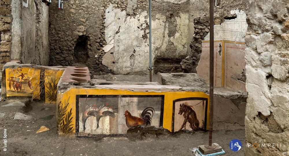 Termopolio della Regio V, scoperta degli scavi di Pompei