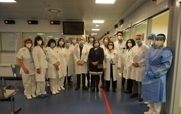 Il personale medico dell'Ospedale Papà Giovanni XXIII di Bergamo - Sputnik Italia