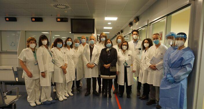 Il personale medico dell'Ospedale Papà Giovanni XXIII di Bergamo