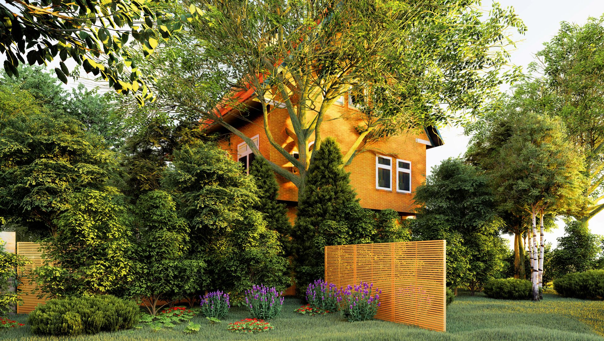 Casa privata con il giardino - Sputnik Italia, 1920, 28.03.2021