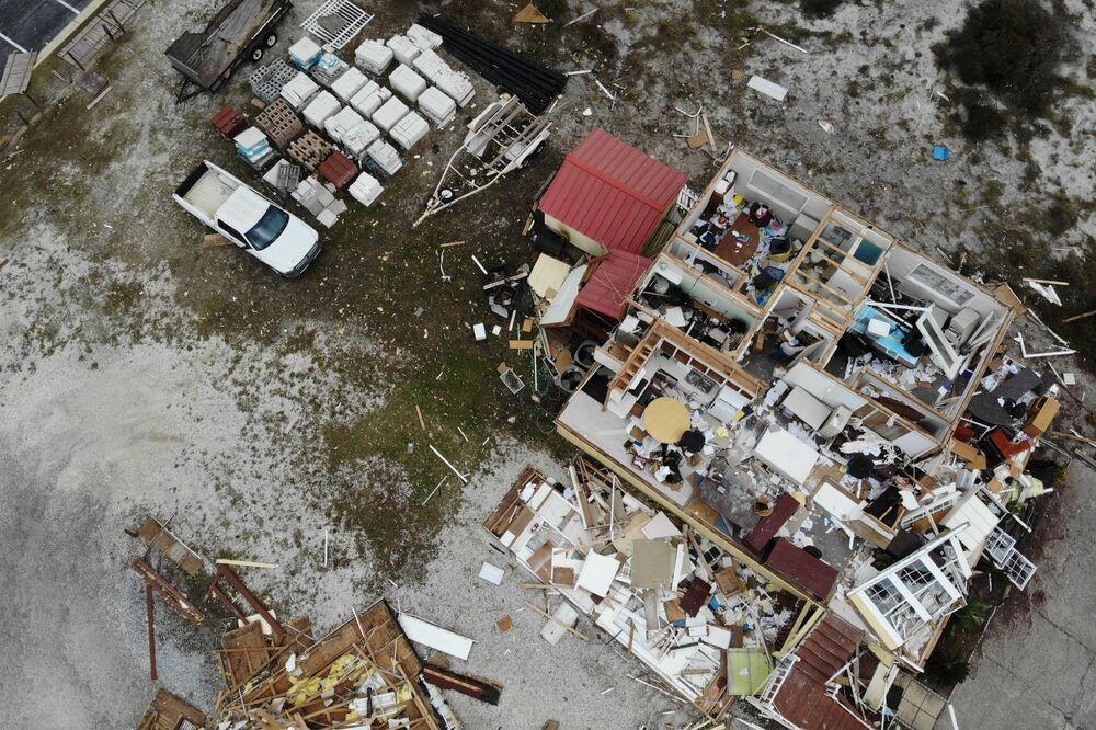 Case distrutte durante l'uragano Sally, USA
