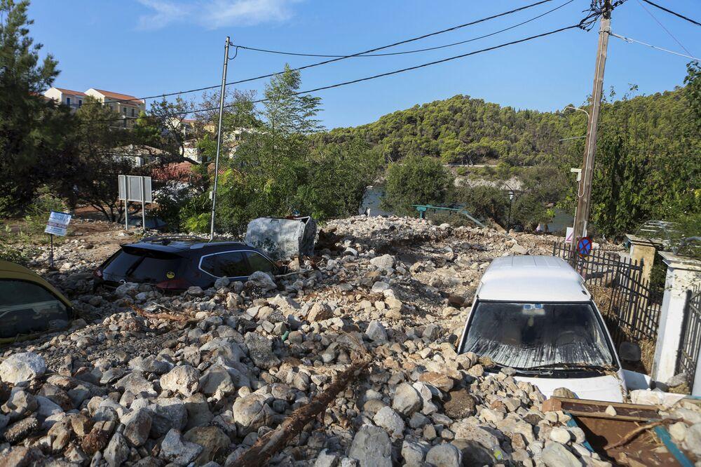 Conseguenze della tempesta tropicale in Grecia