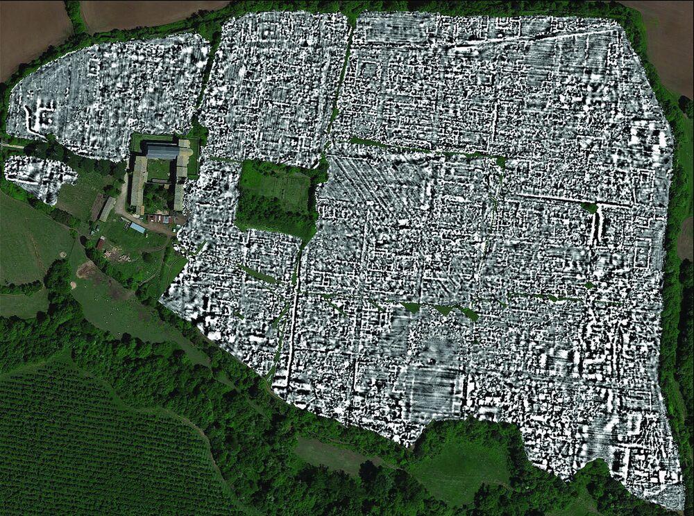 """La prima mappa completa dell'antica città romana di Falerii Novi fatta con l'uso di un avanzato """"radar a penetrazione del suolo"""", o GPR"""