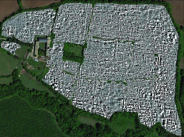 """La prima mappa completa dell'antica città romana di Falerii Novi fatta con l'uso di un avanzato """"radar a penetrazione del suolo"""", o GPR  - Sputnik Italia"""