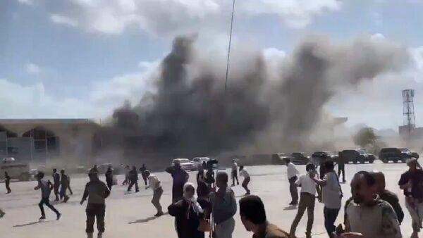 Esplosione all'aeroporto di Aden in Yemen  - Sputnik Italia