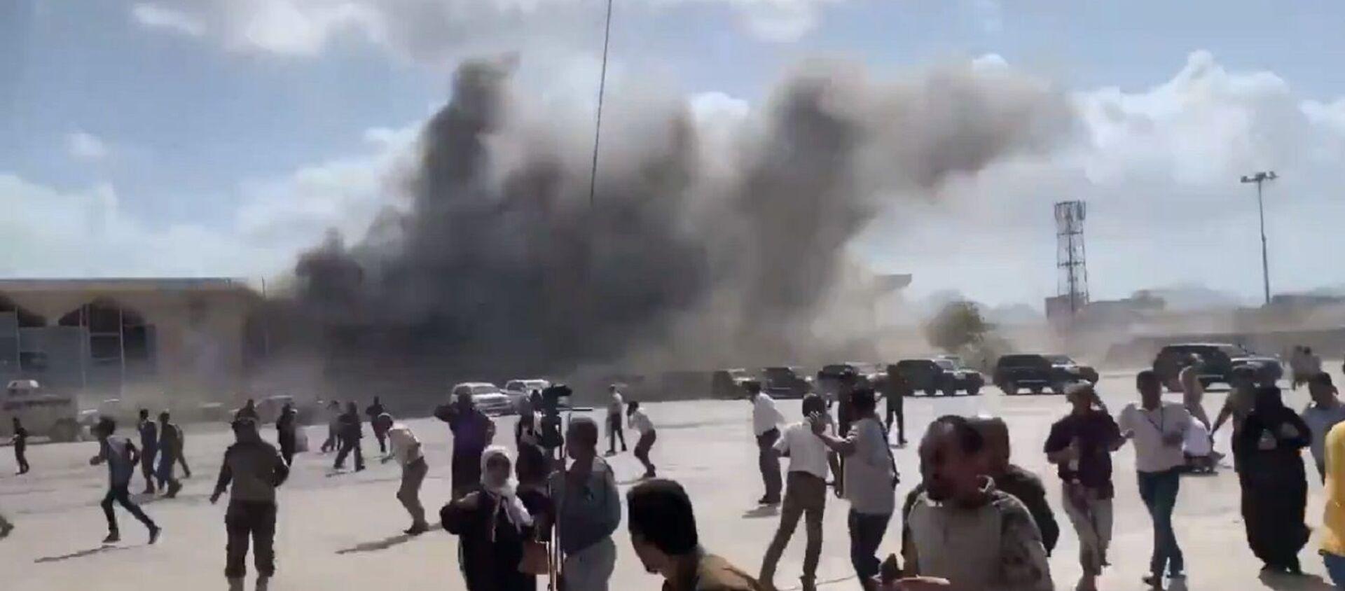 Esplosione all'aeroporto di Aden in Yemen  - Sputnik Italia, 1920, 30.01.2021
