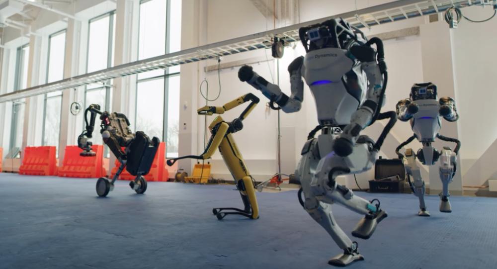 El baile de los robots de Boston Dynamics, captura de pantalla