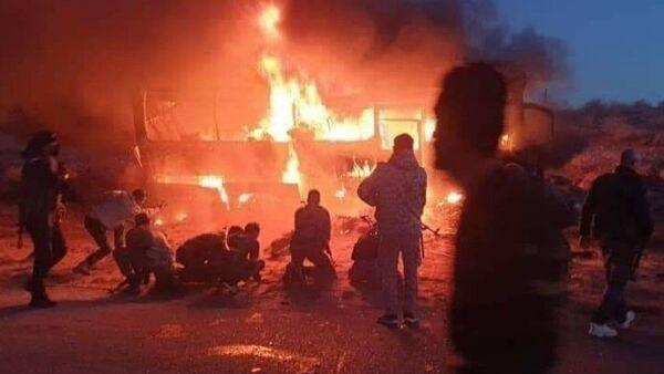 Syria bus attack 30 December 2020 - Sputnik Italia