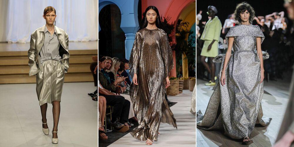 L'anno 2021 può essere celebrato in abiti color argento, oro rosa o oro tenue per attirare i soldi