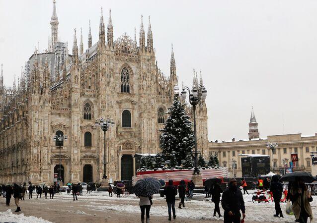 Milano durante le feste natalizie