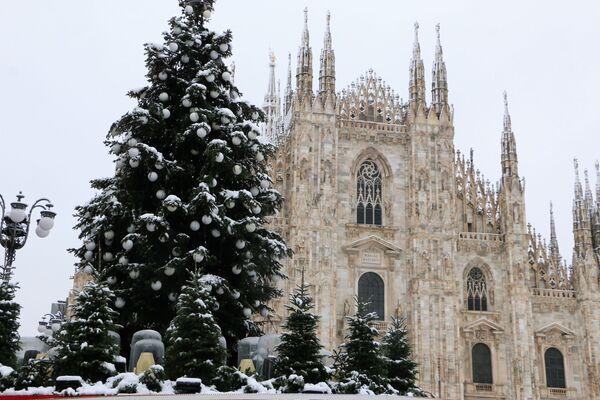 Albero di Natale in Piazza Duomo a Milano - Sputnik Italia