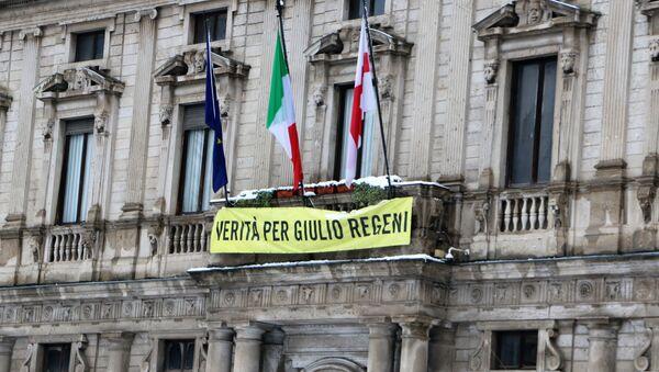 Striscione a sostegno di Giulio Regeni - Sputnik Italia