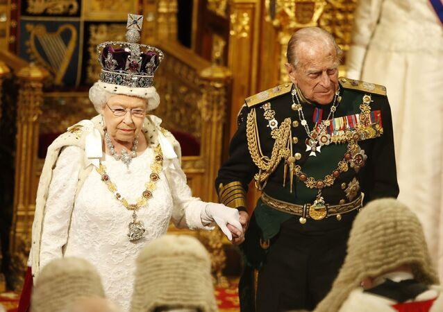 La Regina Elisabetta II e il suo sposo, Filippo di Edimburgo