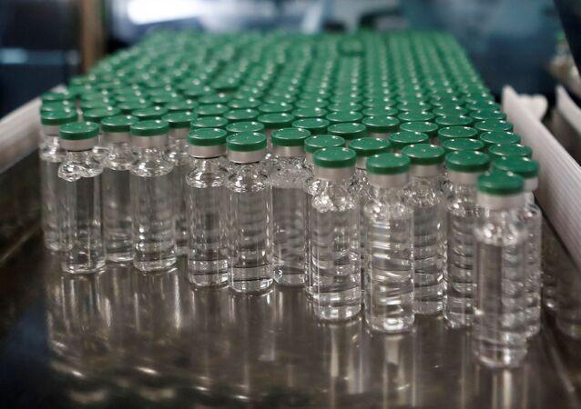 Fiale di vaccino AstraZeneca contro il COVID-19