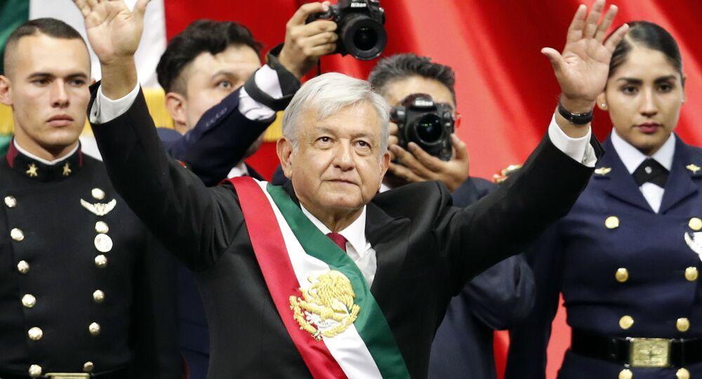 Andrés Manuel López Obrador toma posesión del presidente de la República Mexicana (archivo)
