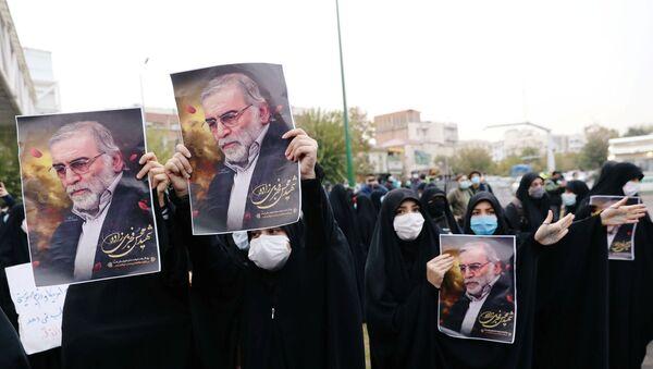 Manifestazione contro assassinio Mohsen Fakhrizadeh - Sputnik Italia