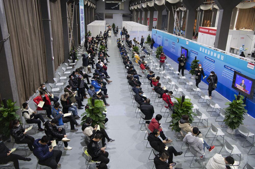 Un centro di vaccinazione a Pechino, Cina, il 3 gennaio 2021.