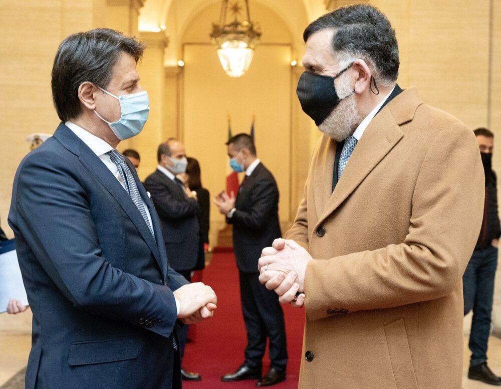 Incontro di Giuseppe Conte con il Presidente libico Serraj