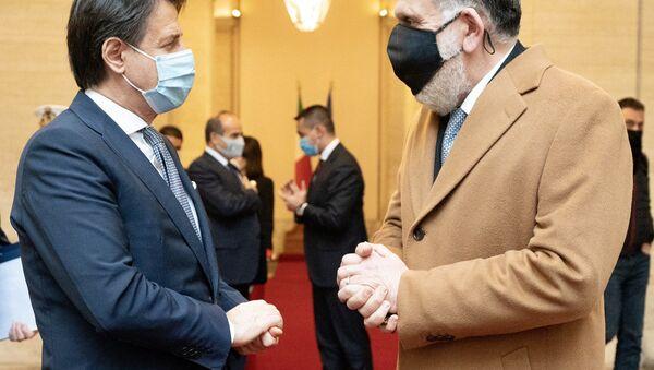 Incontro di Giuseppe Conte con il Presidente libico Serraj - Sputnik Italia