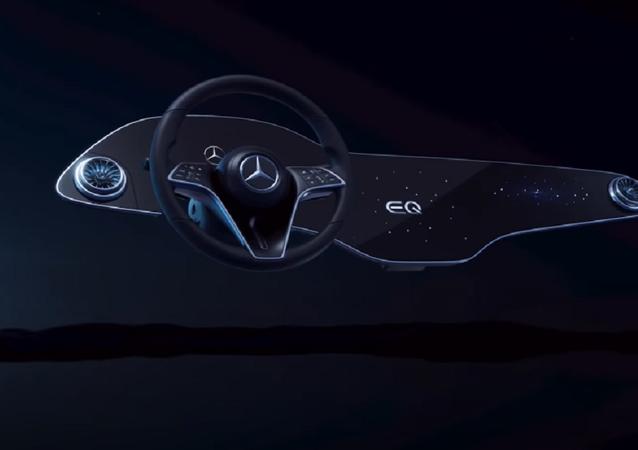 Pannello interattivo della Mercedes EQS