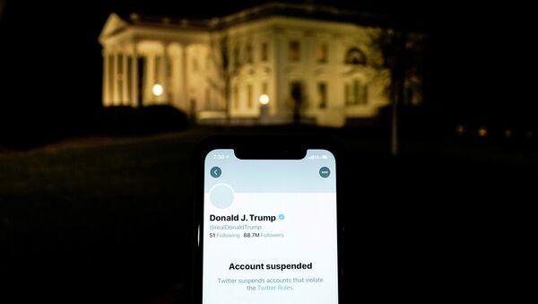 L'account di Trump e la Casa Bianca - Sputnik Italia