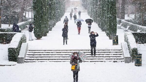 Neve a Madrid - Sputnik Italia