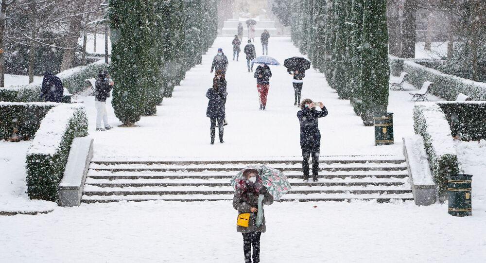 Neve en Madrid