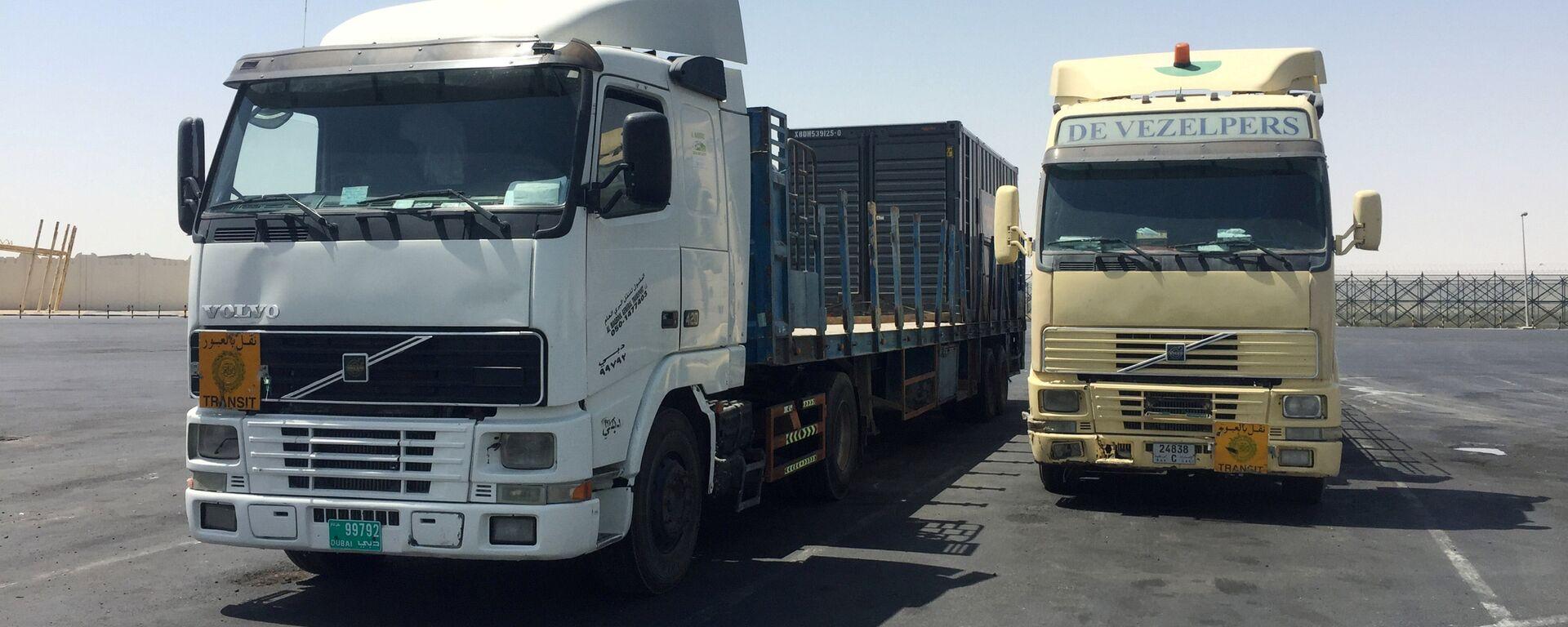 I camion ad Abu Samra, confine tra Arabia Saudita e Qatar - Sputnik Italia, 1920, 09.01.2021