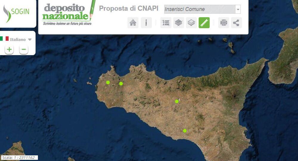 Depositi nucleari in Sicilia