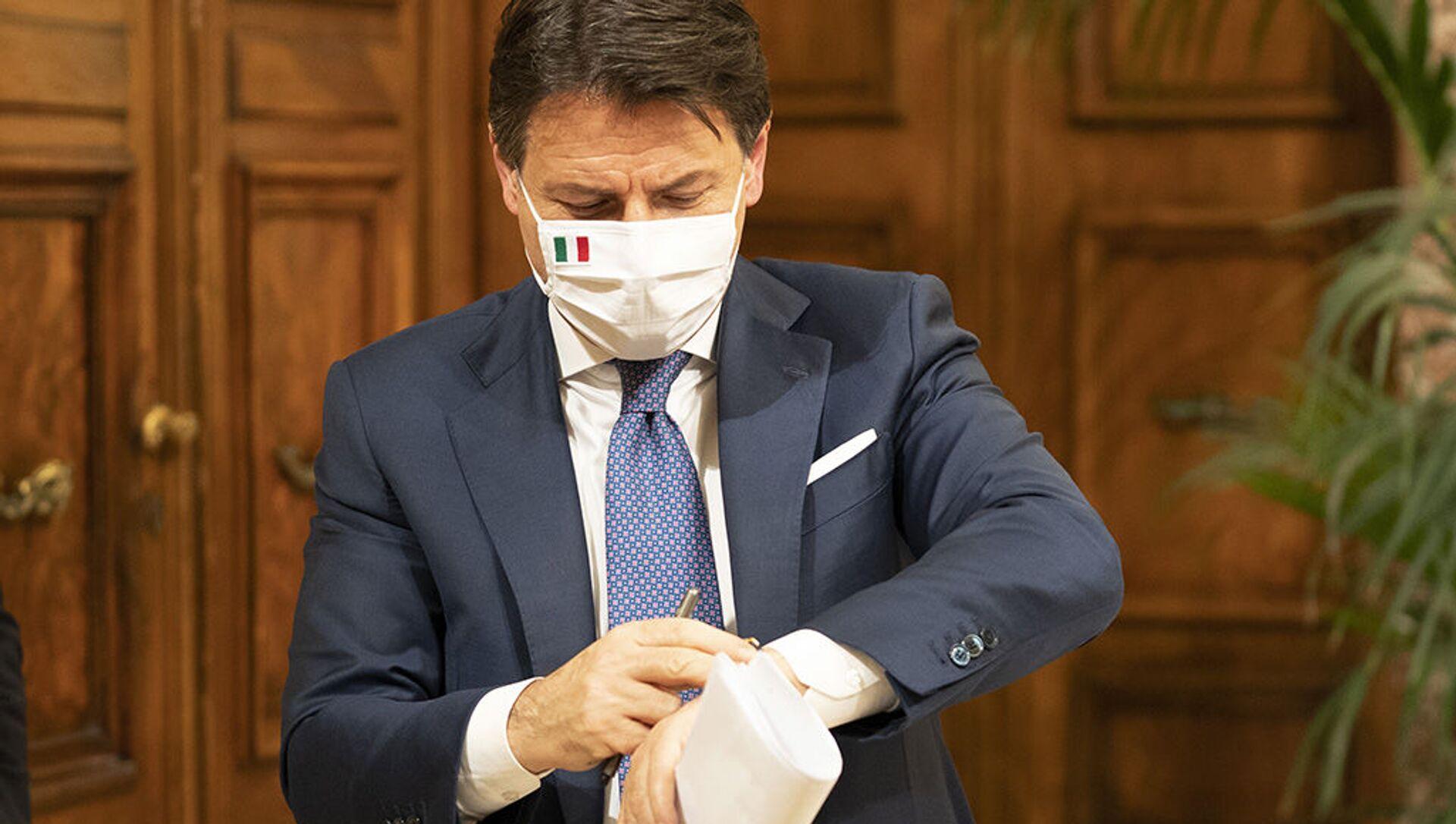Il presidente del Consiglio Giuseppe Conte - Sputnik Italia, 1920, 11.04.2021