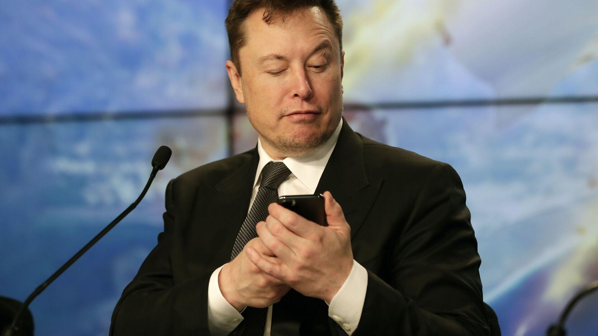 Elon Musk fondatore e CEO di Tesla e SpaceX - Sputnik Italia, 1920, 26.03.2021