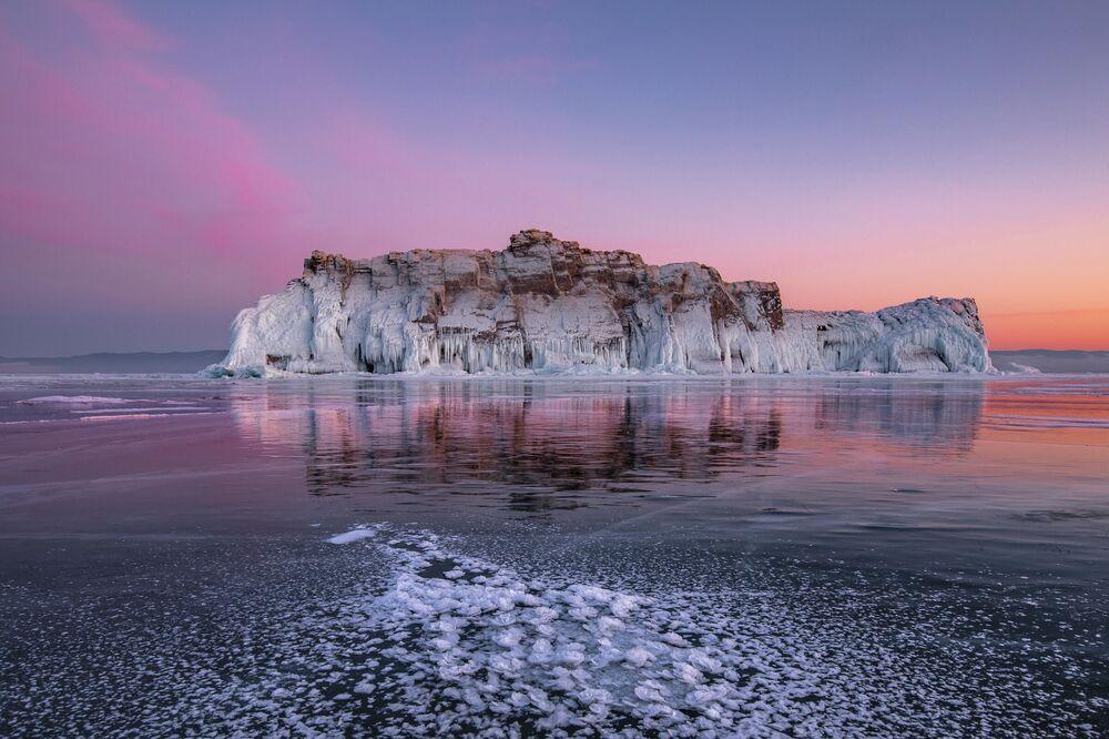 Dmitry Arkhipov. Rosa di ghiaccio di Baikal, Regione di Irkutsk, 2020
