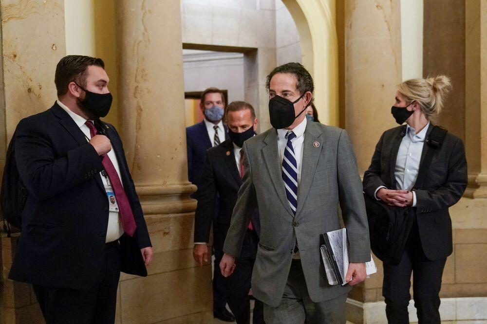 Membro della Camera dei Rappresentanti degli Stati Uniti Jami Raskin al Campidoglio a Washington, USA