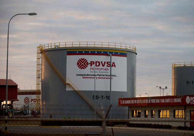 Serbatoi stoccaggio olio pdvsa (archivio)