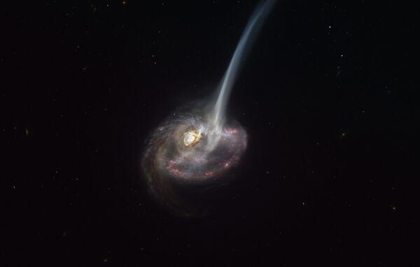 Rappresentazione artistica mostra la galassia ID2299, il risultato di una collisione tra galassie - Sputnik Italia